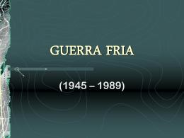 GUERRA FRIA - Colégio O Bom Pastor