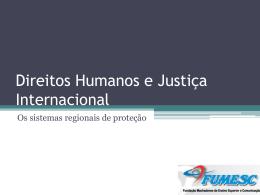 Direitos Humanos e Justica Internacional