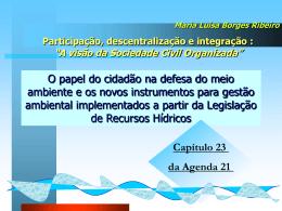 Capítulo 23 da Agenda 21