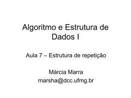 Algoritmos – Estrutura de Repetição