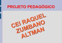projeto pedagogico - Secretaria Municipal de Educação
