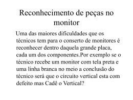 Reconhecimento de peças no monitor