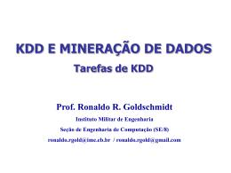 TAREFAS DE KDD - Sistemas e Computação