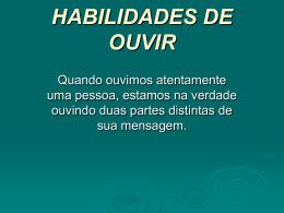 HABILIDADES DE OUVIR