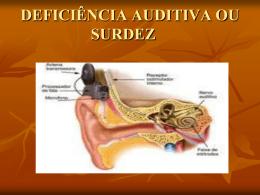 deficiência auditiva ou surdez - Universidade Castelo Branco