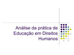 Análise da prática de Educação em Direitos Humanos
