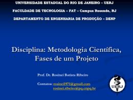 Alguns pontos sobre Metodologia Científica - UERJ