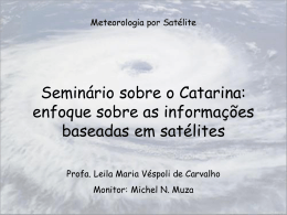 Texto sobre ciclones tropicais e o Catarina ()