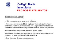Filo dos platelmintos - Colégio Maria Imaculada