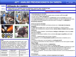 APT 09 - Utilização da Lixadeira