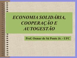 Economia solidária cooperação e auto-gestão
