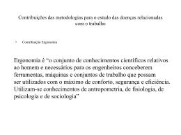 Contribuições das metodologias para o estudo das doenças