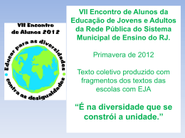 Texto Coletivo final completo do Encontro de alunos 2012