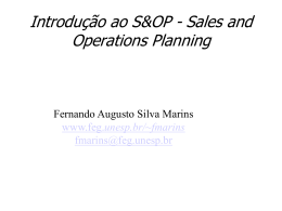 Sales and Operations Planning. Uma maneira simples de