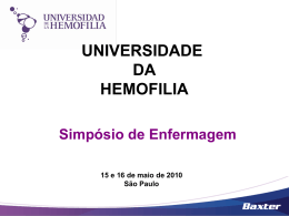 O impacto da profilaxia primária e secundária na hemofilia – Andréa