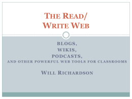 The Read/ Write Web