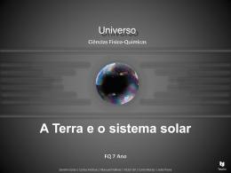 A Terra e o Sistema Solar