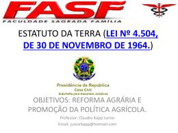 estatuto da terra (lei nº 4.504, de 30 de novembro de 1964.)