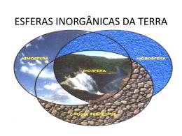 ESFERAS INORGÂNICAS DA TERRA