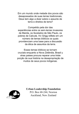 Direitos da Terra Cover - Urban Leadership Foundation