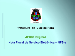 NFS-e - JFISS Digital