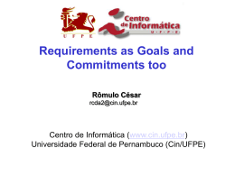 Apresentação do PowerPoint - Centro de Informática da UFPE