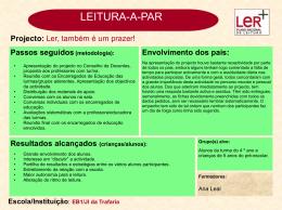 EB1/JI da Trafaria - Plano Nacional de Leitura