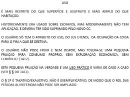 USO HABITAÇÃO PROMITENTE COMPRADOR E