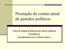 Apresentação - Tribunal Regional Eleitoral de Santa Catarina