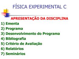 FÍSICA EXPERIMENTAL C