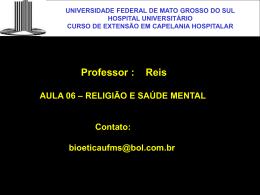 RELIGIÃO E SAÚDE MENTAL - HUMAP-UFMS