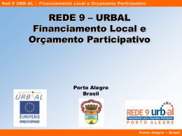 Red 9 URB-AL – Financiamento Local e Orçamento Participativo