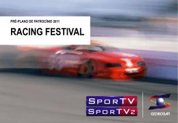 racing festival - Globosat Comercial