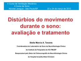 Distúrbios do movimento durante o sono