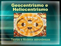 Material sobre Geocentrismo e heliocentrismo, primeiro conteúdo