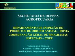 Treinamento à Distância Circular 175/2005/CGPE/DIPOA