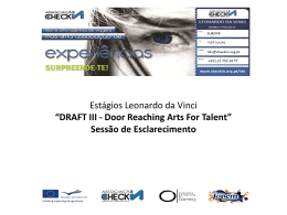 DRAFT III - Door Reaching Arts For Talent