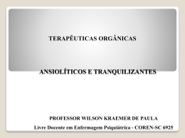 ANSIOLÍTICOS - Wilson Kraemer de Paula