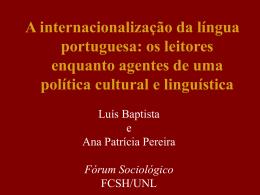 A internacionalização da língua portuguesa: os leitores enquanto