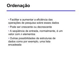 Ordenação - caversan.eng.br