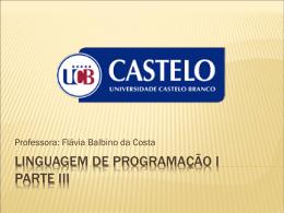 Solução - Universidade Castelo Branco