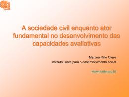 A sociedade civil enquanto ator fundamental no