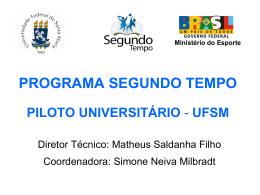 Matheus Saldanha - Ministério do Esporte