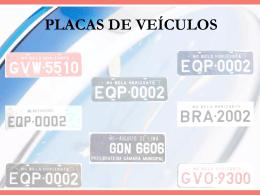 PLACAS DE VEÍCULOS