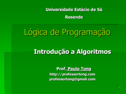 programas. - prof. paulo tong home page