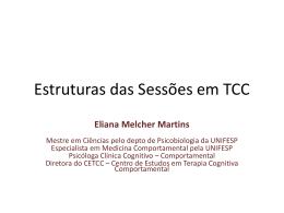 Estruturas das Sessões em TCC