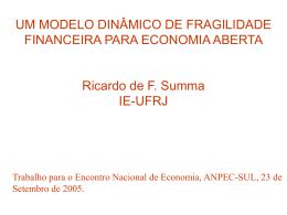 A Teoria da Instabilidade Financeira