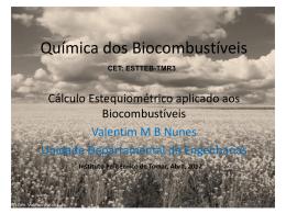 Estequiometria_biocombustíveis - Instituto Politécnico de Tomar
