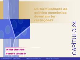 Restrições da política macroeconômica