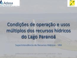 Usos Múltiplos do Lago Paranoá e Captação de Água Superficial